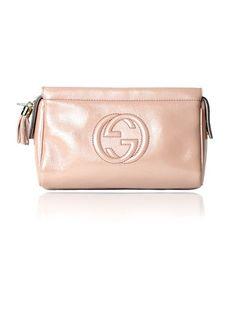 51b28f60b2be GUCCI Soho Interlocking GG Beige Nude Patent Leather Clutch Purse Bag  $375.00 http://