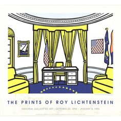 Bid now on The Prints of Roy Lichtenstein, National Gallery of Art Poster by Roy Lichtenstein. View a wide Variety of artworks by Roy Lichtenstein, now available for sale on artnet Auctions. Roy Lichtenstein Pop Art, New York, Oval Office, Shops, Whitney Museum, National Gallery Of Art, Art Gallery, American Flag, American Life