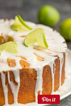 DIY Scratch Made Key Lime Pound Cake Recipe with Key Lime Glaze is a wonderfully tart & sweet pound cake a delicious twist to a traditional - Ingredients  Produce  1  tsp Key lime  1/3 cup Key lime fresh  3 tbsp Key lime fresh juice  Refrigerated  6 Eggs large  Baking & Spices  3 cups All-purpose flour   tsp Baking powder  1  cups Confectioners sugar  3 cups Granulated sugar  1 Key lime glaze  1/8 tsp Salt   cup Shortening  1  tsp Vanilla  Dairy  1 cup Butter  1 cup Whole milk @ICookUEat