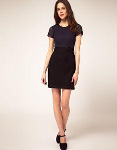 Boutique By Jaeger Slim Lace Shift Dress