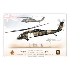 "S-70 ""Blackhawk"" Australian Army JP-1386 - Aviationgraphic Defence Force, Model Airplanes, Special Forces, Armed Forces, Military Aircraft, Warfare, Air Force, Fighter Jets, Black Hawk"