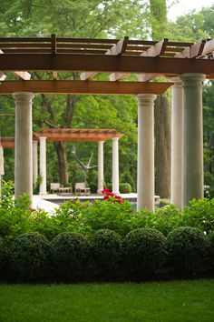 Elegant Pergolas by Janice Parker Landscape Design.