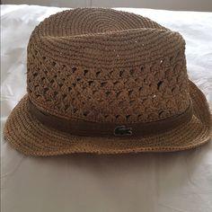 3b4d23672ea Lacoste Women s Straw like Fadora Soft Straw Women s Lacoste Fadora Hat   one size fits most   hardly worn Lacoste Accessories Hats
