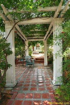 Wistful Wisteria arbor in Glenoaks Canyon on a home that was built in 1928.