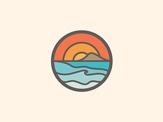 love these sort of logos I reckon. they say alot without talking too much Surf Logo, Beach Logo, Inspiration Logo Design, Affinity Designer, Surf Art, Pictogram, Creative Logo, Cool Designs, Typography