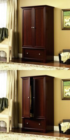 Armoires And Wardrobes 103430: Wardrobe Closet Armoire Cabinet Furniture  Clothes Wood Storage Bedroom Dresser
