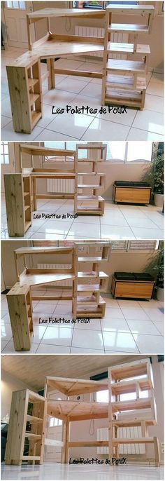 This is yet another one of the inspiring idea of the wood pallet media table or TV stand project to add up in your house What is so interesting about it Well give a look. Wooden Pallets, Recycled Pallets, Diy Pallet Projects, Home Projects, Pallet Ideas, Bois Diy, Diy Tv Stand, Pallet Shelves, Home And Deco
