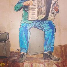"37 Likes, 1 Comments - Demetris Stefani (@dailyadman) on Instagram: ""listen to the street life tune...it's saying: ___________ #dailyadman #music #streetart…"""