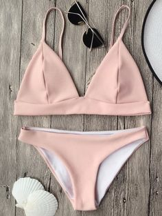 SHARE & Get it FREE | Cami Plunge Bralette Bikini Top And Bottoms - PinkFor Fashion Lovers only:80,000+ Items • New Arrivals Daily Join Zaful: Get YOUR $50 NOW!