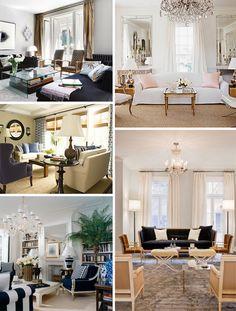 Navy & Tan Living Room Inspiration!