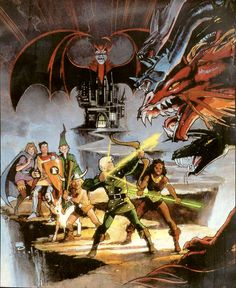 Time to feel some nostalgia with Dungeons & Dragons art by Bill Sienkiewicz.
