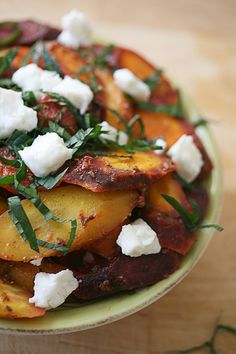 Moroccan carrot salad with feta.