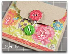 Make some envelopes with button closures like this... DIY tutorial