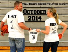 Basketball pregnancy reveal