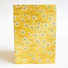 Japanese Yuzen Washi Card Holder - Cherry Blossom & Pine Needles Lemon Japanese Minimalism, Oyster Card, Travel Cards, Japanese Patterns, Pine Needles, Unique Cards, Printed Bags, Japanese Culture, Card Holders