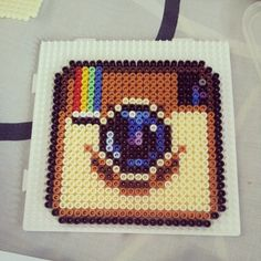 I would like to use this pattern for Crossstitch or beadwork. - Instagram hama beads by ddralson on deviantart