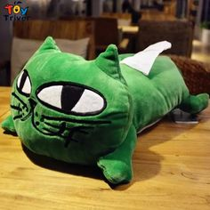 13.99$  Watch here - 40cm Kawaii Cartoon Green Cat Kitty Plush Animal Shaped Tissue Box Case Napkin Paper Holder Home Car Decor  #buychinaproducts