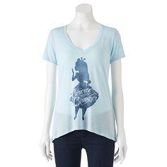 "Disney's Alice in Wonderland Juniors' ""Curiouser"" Graphic Tee"
