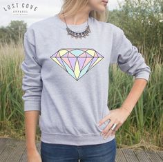 Diamond Jumper Sweater Pastel Fashion Blogger Summer Cute Transparent Grunge by LostCoveApparel on Etsy https://www.etsy.com/listing/203691694/diamond-jumper-sweater-pastel-fashion