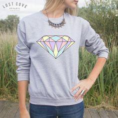 Diamond Jumper Sweater Pastel Fashion Blogger Summer Cute Transparent Grunge by LostCoveApparel on Etsy https://www.etsy.com/listing/203691694/diamond-jumper-sweater-pastel-fashion