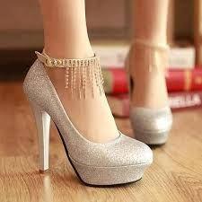 Con Zapatos 15 De Dorados Cadena Modelos Zapatos Años Calzado Tacón FT8dw4xF