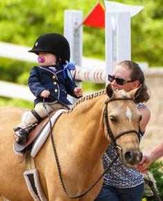 Equestrian in training. Aaaawwwee