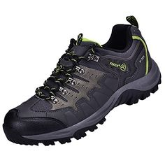 Rax Womens Waterproof Leather Hiking shoes Outdoor Climbing Camping Shoes Waterproof 39 Dark Grey -- See this great product.