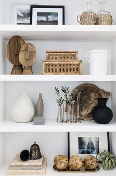 Home Living Room, Living Room Decor, Shelf Ideas For Living Room, Diy Bedroom Decor, Home Decor Inspiration, Decor Ideas, Home Accessories, Living Room Accessories, Interior Design
