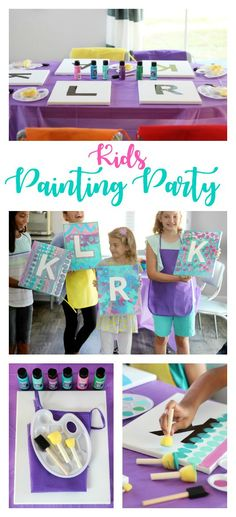 This painting party for kids is such a fun activity! Everyone gets to go home with a one-of-a-kind party favor---a painting for their bedroom! Crafts for kids Painting Party For Kids: A fun and creative birthday idea! Birthday Party At Home, 10th Birthday Parties, Art Birthday, Kids Birthday Party Games, Kids Birthday Crafts, Kid Party Activities, 10th Birthday Party Ideas, Girls 9th Birthday, Kids Activities At Home
