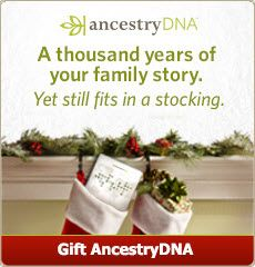 A thousand years of your family story. Yet still fits in a stocking.  Give the gift of AncestryDNA this year! #genealogy #DNA