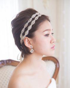 エレガントなビジュー Formal Hairstyles For Short Hair, Wedding Hairstyles, Short Hair Styles, Nail Effects, Hair Arrange, Short Wedding Hair, Up Styles, Marriage, Bride