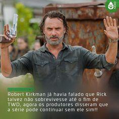 """#CoxinhaNews Eles disseram: """"Eu acho que poderia continuar sem Rick. Andrew é o líder da série e sua dedicação é absolutamente inspiradora. Todos simplesmente olham para ele e ele é uma grande parte do que estamos fazendo. Mas temos um grupo muito forte e há muitos personagens que podem carregar a série. The Walking Dead é uma história sobre um mundo e um grupo de pessoas que habitam esse mundo.""""    #TimelineAcessivel #PraCegoVer  Imagem Rick Grimes de The Walking Dead com a notícia: Robert…"""
