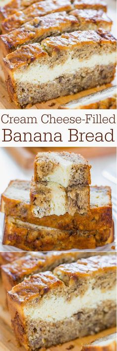 Cream Cheese-Filled Banana Bread Ingredients: Bread 1 large egg 1/2 cup light brown sugar, packed 1/4 cup granulated sugar 1/4 c...