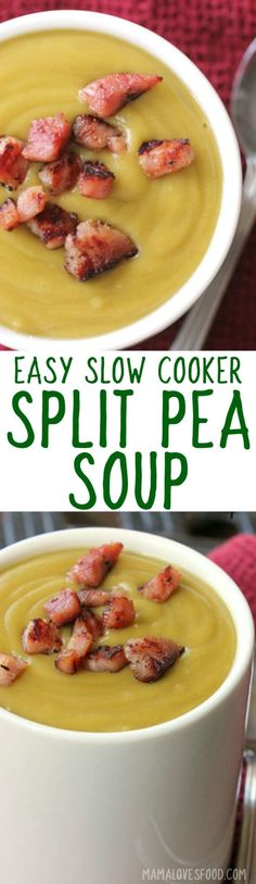 split pea soup recipe slow cooker
