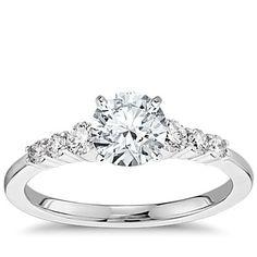 Petite Diamond Engagement Ring in 14k White Gold (1/4 ct. tw.)