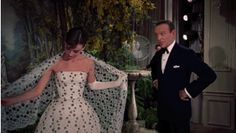 Audrey Hepburn and Fred Astaire in Funny Face, 1957