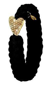#FromSoldiertoSoldier Black Gold Plate Swarovski Heart.