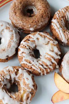 Peaches & Cream Dairy Free Donuts