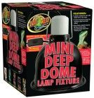 Zoo Med Mini Deep Dome Lamp Fixture with 5.5-Inch Dome, Black