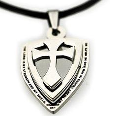 Cross Shield Necklace - http://www.spiritualgemstonejewelry.com/cross-shield-necklace/