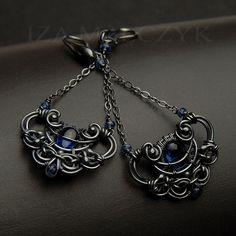the Ocean Blues earrings by Iza Malczyk