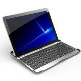 Samsung Galaxy Tab 10.1 GT-P7510 Case Accessory Cover 2-in-1 Aluminum Bluetooth Wireless Keyboard (Silver with Black Keys)