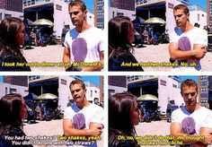 """""""What did you do to kind of get some chemistry going with Shailene? How'd you 'wine and dine' her?"""" Oh theo. Divergent Jokes, Divergent Hunger Games, Divergent Fandom, Divergent Trilogy, Divergent Insurgent Allegiant, Divergent Dauntless, Tfios, Veronica Roth Books, Divergent Theo James"""