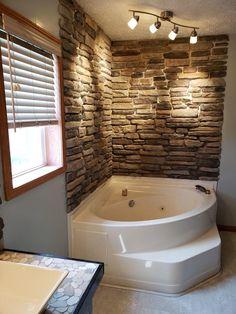 Stone Veneer Siding, Manufactured Stone Veneer, Stone Accent Walls, Mountain View, Bear Mountain, Aspen Mountain, Jacuzzi Tub, House Siding, Arquitetura