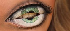 Creepy eyeball lips