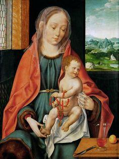Йос ван Клеве - Мадонна с младенцем. Музей истории искусств