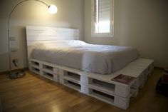 Un palet como estructura de cama, ¿sí o no? - Espaciodeco.com