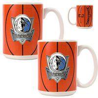 Dallas Mavericks 2pc Ceramic Gameball Mug Set - Primary Logo