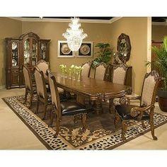 9-pc Monte Carlo II Rectangular Table Dining Room Set (cafe noir ...