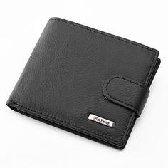 100% Echtrindsleder Brieftasche Männer Münzfach Geldbörse Carteira Masculina Marke Brieftasche Männliche Trifold Schwarz Braun Echte Brieftasche